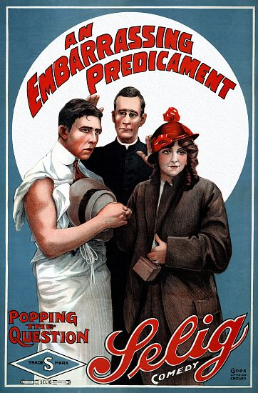 """An Embarrassing Predicament"" - Selig 1914 Comedy Poster"