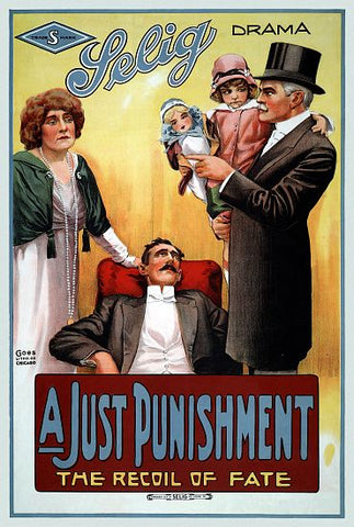 """A Just Punishment"" - Selig Movie Poster 1914"
