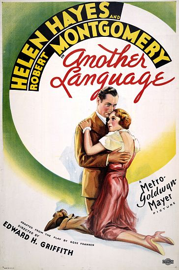 """Another Language"" - Helen Hayes and Robert Montgomery 1933 Movie Poster"