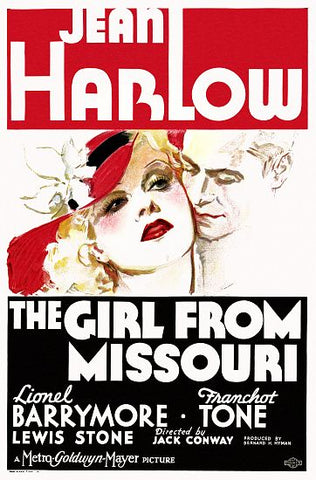 """The Girl from Missouri"" - Jean Harlow & Lionel Barrymore Movie Poster"