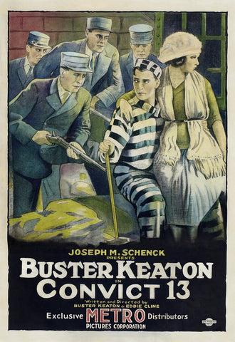 """Convict 13"" - Buster Keaton - 1920 Movie Poster"