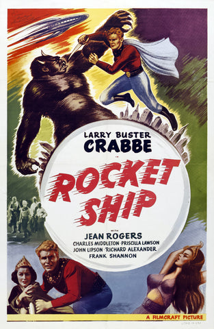 """Rocket Ship"" - Larry Buster Crabbe - Flash Gordon Movie Poster"