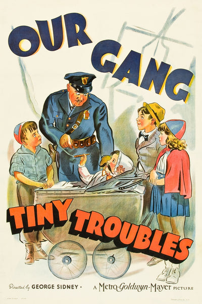 """Our Gang - Tiny Troubles"" - Little Rascals Movie Poster"