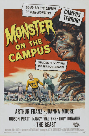 """Monster On The Campus"" -  Movie Poster"