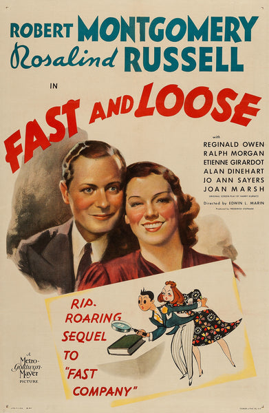 """Fast And Loose"" - 1939 Movie Poster"