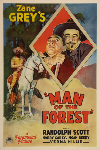 """Man Of The Forest"" - 1933 Movie Poster"