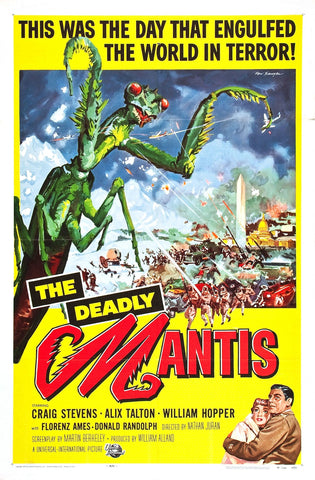"""The Deadly Mantis"" - Horror Movie Poster"