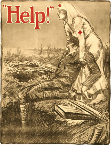 1914 Red Cross Nurse Recruiting Poster
