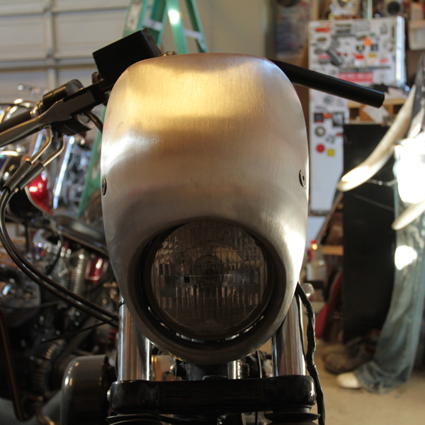 Cast Aluminum Headlight Fairing