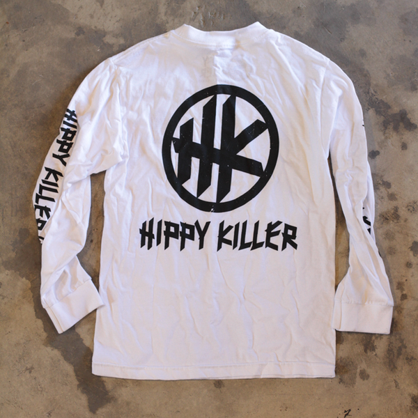 HK Icon Distressed LS - White