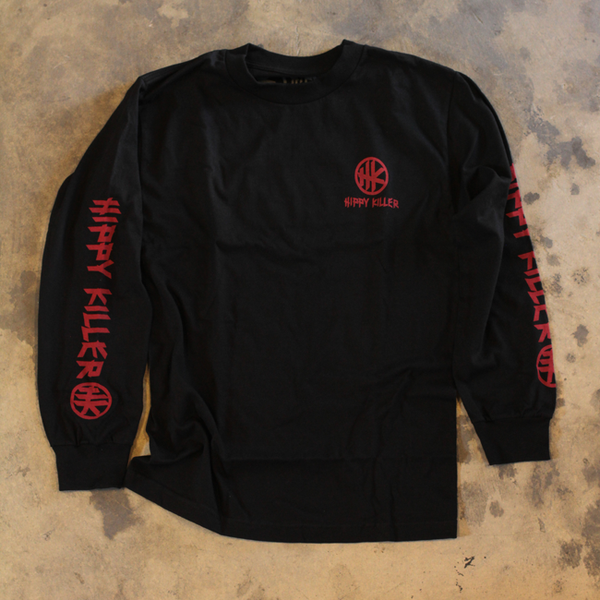HK Icon Distressed LS - Black
