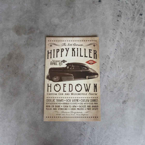 Hippy Killer Hoedown 8th Annual Poster - Car