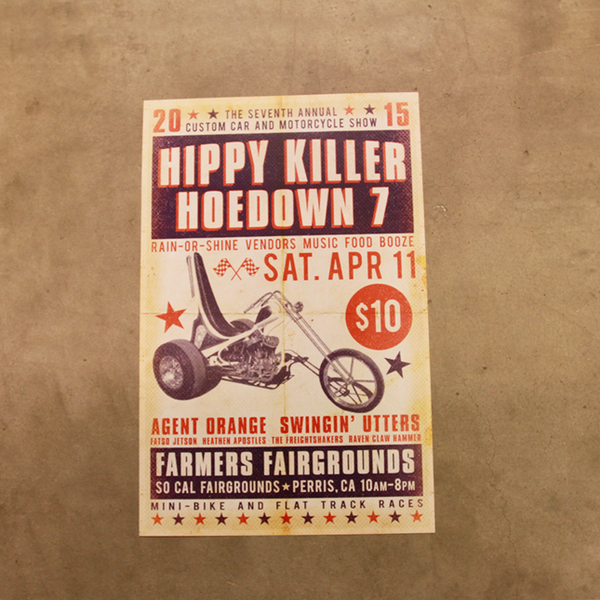 Hippy Killer Hoedown 7th Annual Poster
