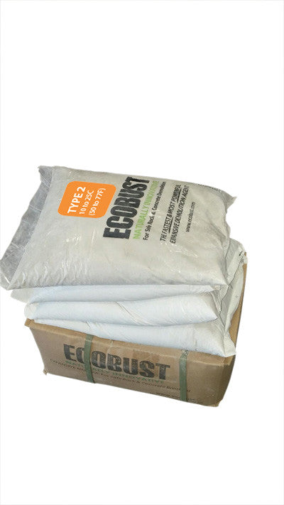 ECOBUST 44 lb Box TYPE 2 (50 to 77F) Expansive Demolition Grout for Concrete Rock Breaking and Removal
