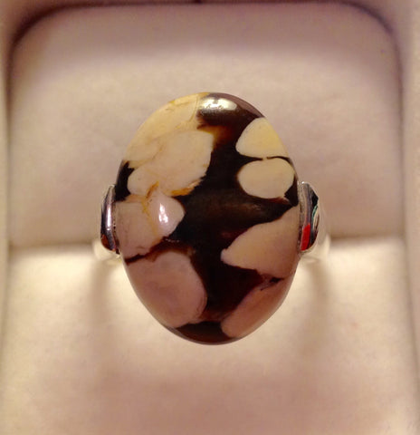 Peanut Wood Jasper Sterling Silver Ring