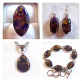 Copper Mojave Amethyst Sterling Silver Jewelry Set