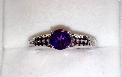 Ametista Amethyst Sterling Silver Ring