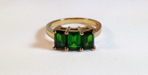 Chrome Diopside 925 Ring
