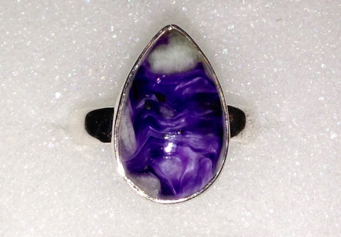 Siberian Charoite Sterling Silver Ring