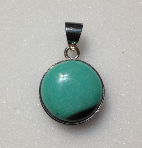 Tibetan Turquoise Sterling Silver Pendant