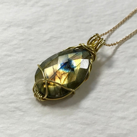 AA Grade Labradorite Necklace