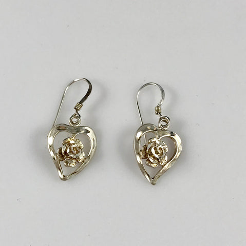 Hearts & Flowers Sterling Silver Earrings