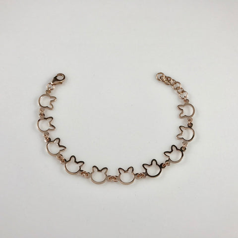 14K Rose Gold .925 Kitty Kat Bracelet