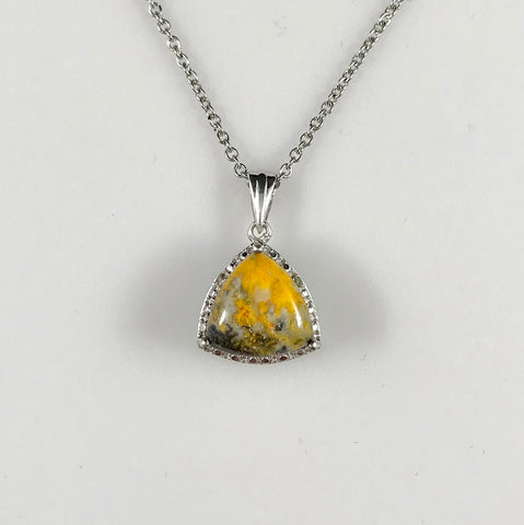 Bumble Bee Jasper & Diamond Necklace