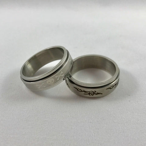 2 Men's Size 13 Spinner Rings