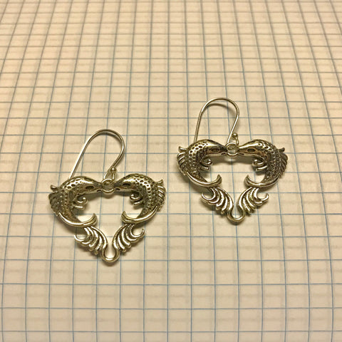 Lovey Fish Sterling Silver Earrings