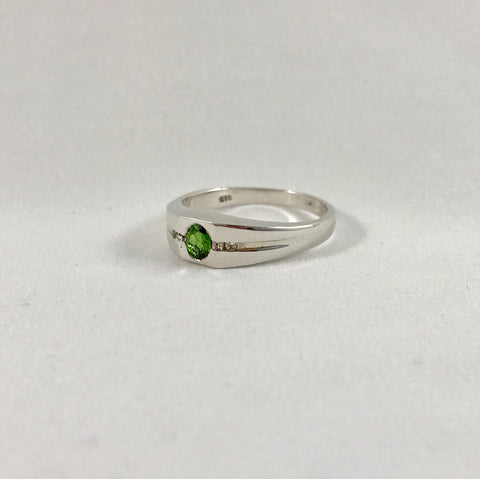Men's Russian Diopside & Topaz Ring (Size 12)