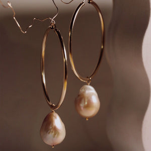 Beck Jewels XL Pearl Hoops