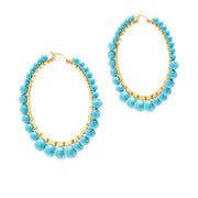 Bella Hoops ~ Turquoise ~ Medium