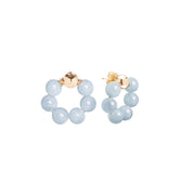 Beck Jewels - Aquamarine OG is handcrafted in Brooklyn, by women for women. Weaving aquamarine gemstones in 14k gold-filled wires (metals are manufactured in the USA)