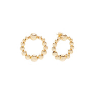 Beck Jewels - Delfina Gold OG studs are handcrafted in Brooklyn, by women for women. Weaving 14k gold-filled beads in 14k gold-filled wires and stud (metals are manufactured in the USA)