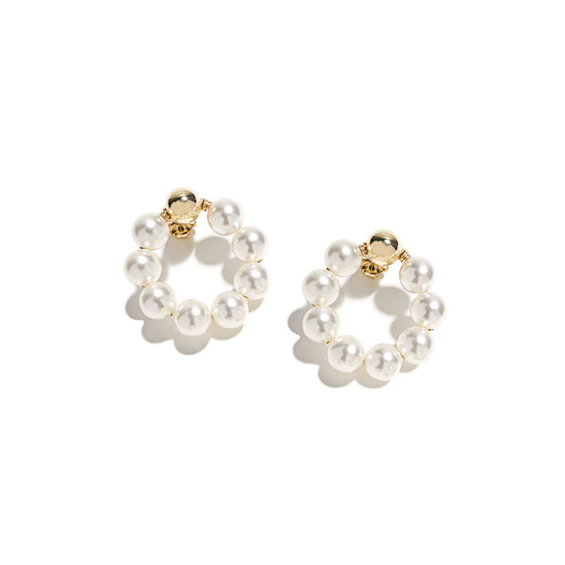 Beck Jewels - Classic Pearl OG is handcrafted in Brooklyn, by women for women. Weaving Swarovski pearls in 14k gold-filled wires (metals are manufactured in the USA)