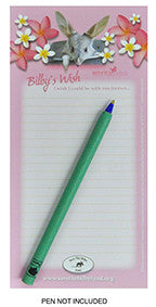 Bilby's Wish Pink DL Notepad