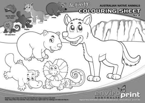 Australian Threatened Species Colouring Sheet No.4 (Pack)