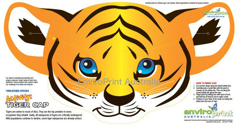 Tiger Cap (Party Hat) Activity (Pack)