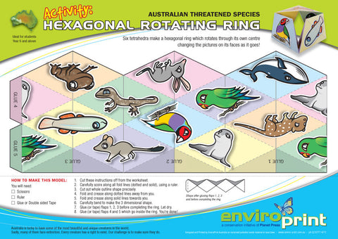 Australian Threatened Species Hexagonal Rotator (Pack)