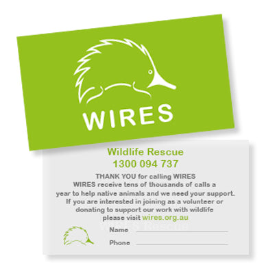 WIRES Thank You Rescue Business Cards