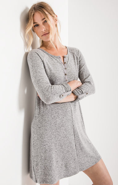Z Supply: Marled Henley Dress