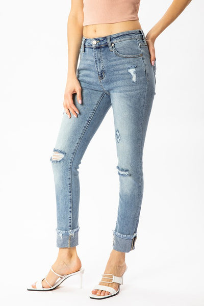 Bestseller! Distressed Cuff Jeans