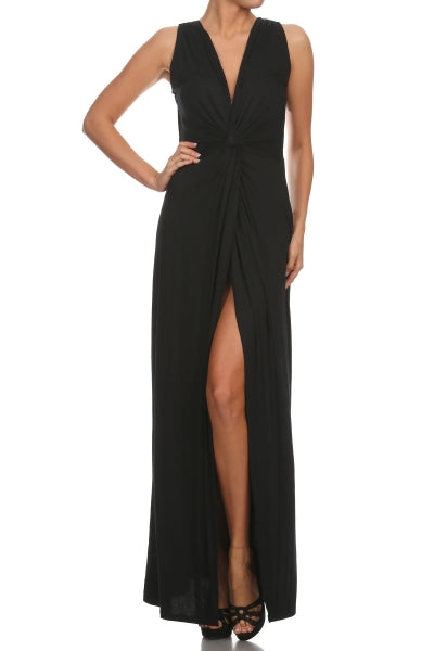 Tie Front Holiday Maxi