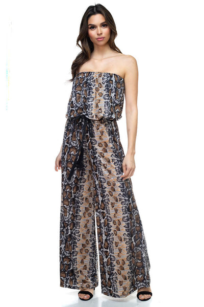 Printed Sequin Jumpsuit