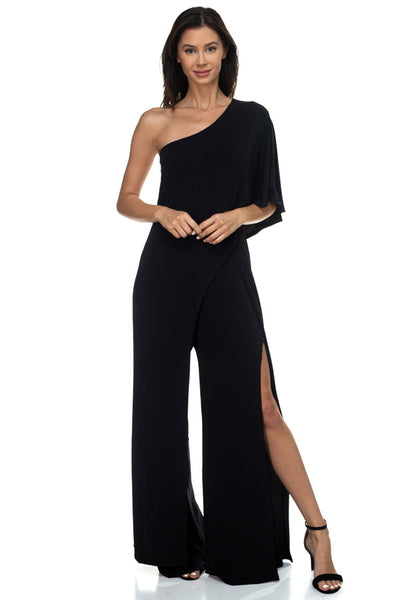 One Shoulder Cocktail Jumpsuit