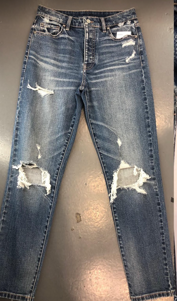 Super Mom Distressed Jeans