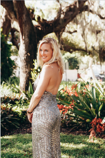 Sequin Halter Jumpsuit