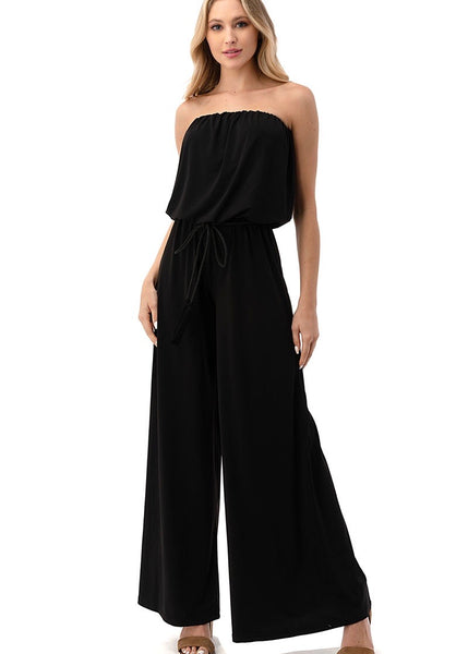 Bestselling Solid Strapless Jumpsuit
