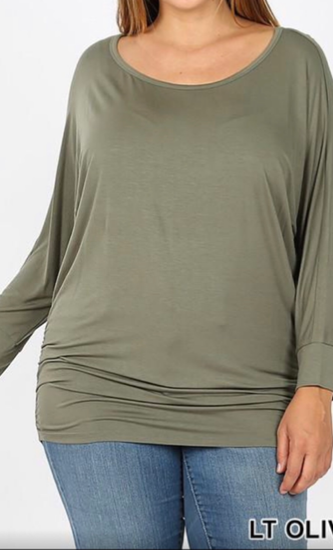 Luxe Dolman 3/4 Sleeve Top (PLUS)
